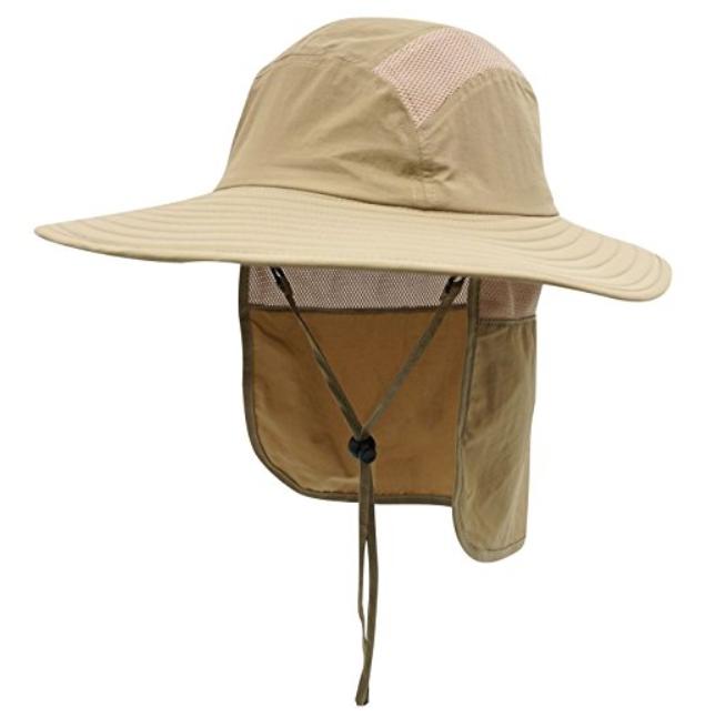 CODA CAP UPF 50 Orange Beanie Hat with Neck Shade
